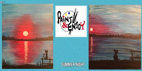 """Paint and Enjoy-Rustic Cup, East Prospect """"Summer night"""" tickets"""