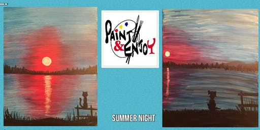 "Paint and Enjoy-Rustic Cup, East Prospect ""Summer night"""