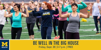 "MHealthy's ""Be Well in the Big House"" 5 p.m. Zumba Class"