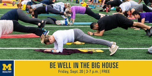 "MHealthy's ""Be Well in the Big House"" 6 p.m. Strength Training Class"