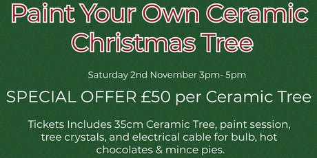 Paint Your Own Ceramic Christmas Tree tickets