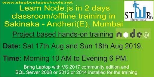 Offline NodeJS training in Mumbai.