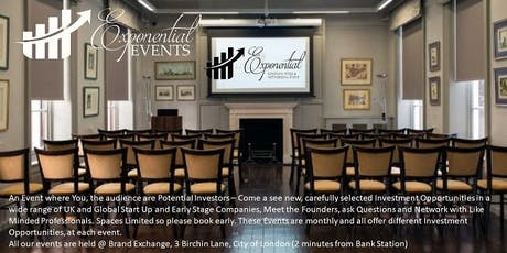 Exponential Events Investment Pitch & Networking October Event tickets