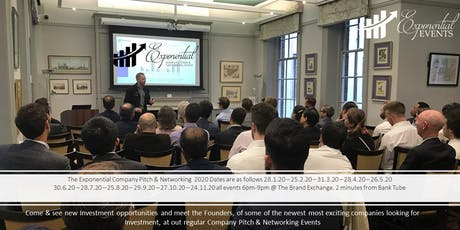 Exponential Events Investment Pitch & Networking February Event tickets