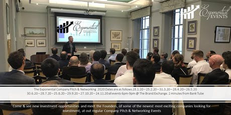 Exponential Events Investment Pitch & Networking May Event tickets