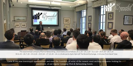 Exponential Events Investment Pitch & Networking June Event tickets