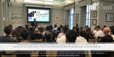 Exponential Events Investment Pitch & Networking August Event tickets
