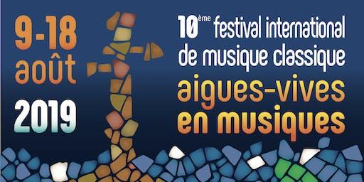 """Festival """"Aigues-Vives en Musiques"""" – CINQUIÈME GRAND CONCERT"""