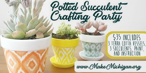 Potted Succulent Crafting Party - Walker