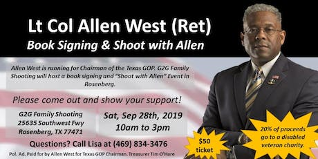 Lt Col Allen West (Ret)Book Signing & Shoot with Allen tickets