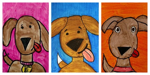 GRAND OPENING SPECIAL- 50% OFF! How to Draw a Cartoon Puppy Workshop (5-12 years)