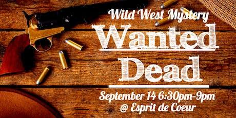 Wild West Murder Mystery tickets