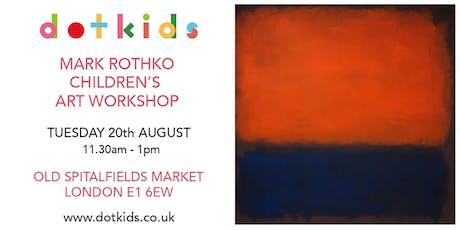 Mark Rothko Children's Art Workshop for kids tickets