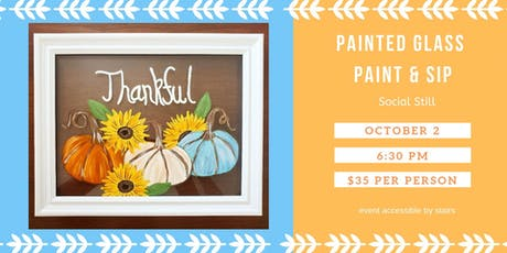Painted Glass Paint and Sip at Social Still tickets