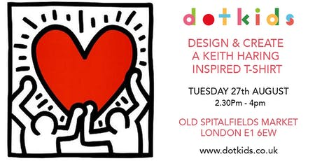 Design a Keith Haring Inspired T-shirt - Children's Art Workshop for kids tickets