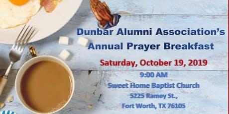 Dunbar Alumni Association's Annual Prayer Breakfast tickets