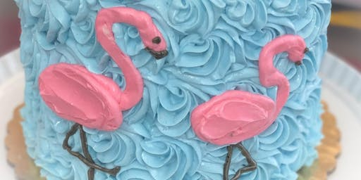 Flamingo Cake Decorating Class (Making Strides Against Breast Cancer Fundraiser)
