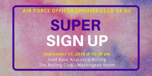 AFOSC of DC - Super Sign Up