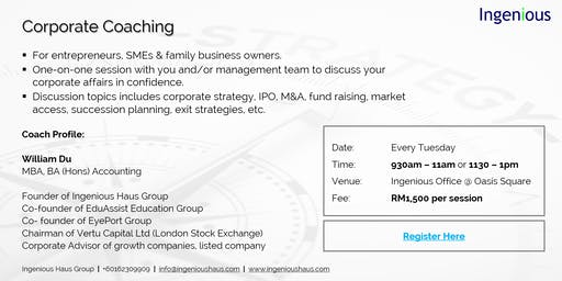 Corporate Coaching For Entrepreneurs, SMEs & Family Business Owners.