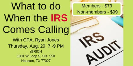 What to do When the IRS Comes Calling! with CPA, Ryan Jones at RICH tickets