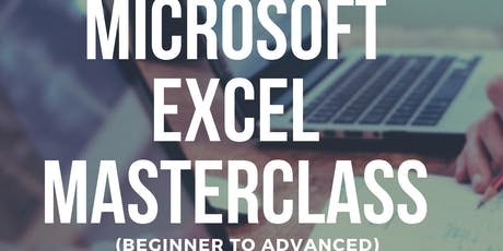 Microsoft Excel Masterclass (Beginner to Advanced) Paid Training tickets