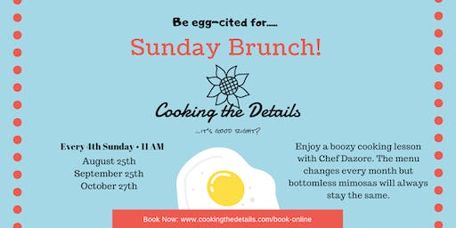 Boozy Bougie Sunday Brunch Cooking Class