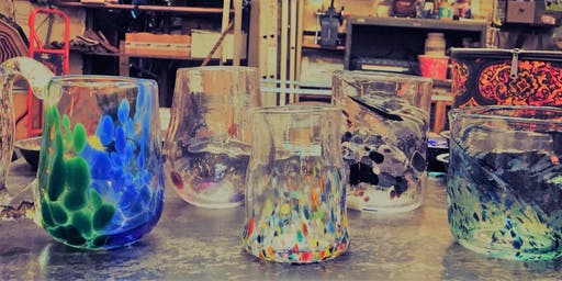 Glassblowing Beer Mugs and Stemless Wine Glasses