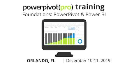 Foundations: Power Pivot and Power BI - Orlando 2019 tickets
