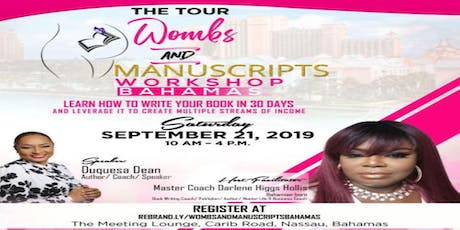 Wombs & Manuscripts Book Writing Masterclass - Nassau Bahamas tickets