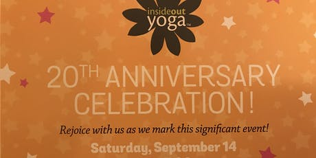 InsideOut Yoga's 20th Anniversary tickets