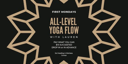 First Mondays: All-Level Yoga Flow