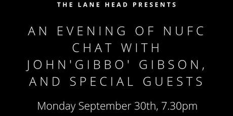 Newcastle United live talk-in with John 'Gibbo' Gibson tickets