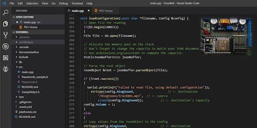 Microcontroller programming with PlatformIO