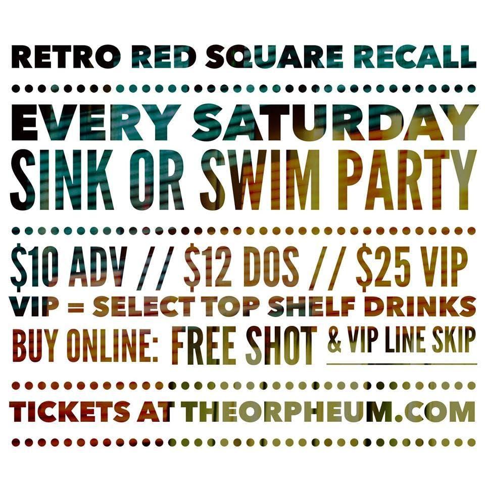 Retro Red Square Recall - Sink Or Swim