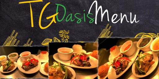 Exclusive Oasis Menu at Trinity Grill