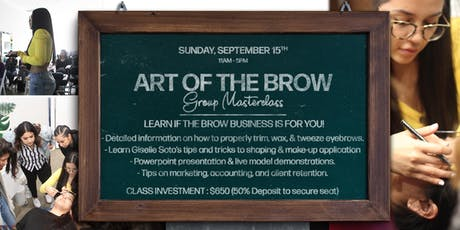 Giselle Soto Brows - Brow Shaping Masterclass (Trim, Wax, Tweeze, Make-Up) tickets