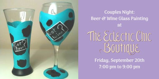 Couples Night: Beer Mug & Wine Glass Painting Workshop