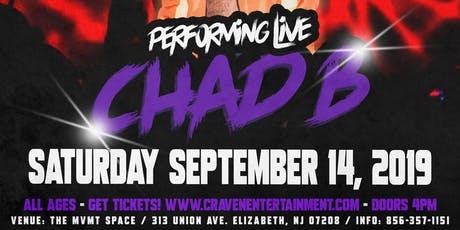 """"""" Chad B """" New Jersey Concert tickets"""