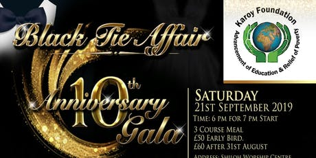The Karoy Foundation 10th Year Charity Gala tickets