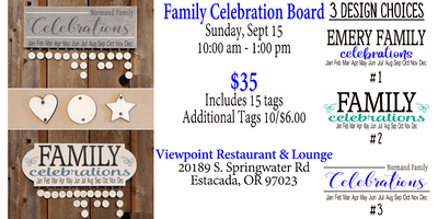 Family Celebration Board