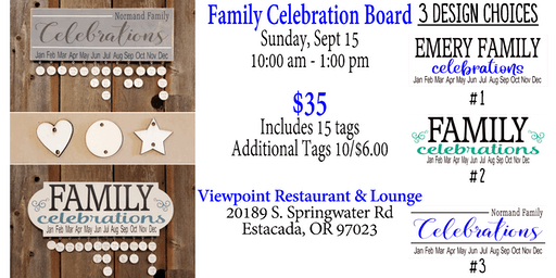 Family Celebration Board