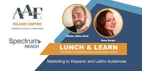 Marketing to Hispanic and Latino Audiences tickets