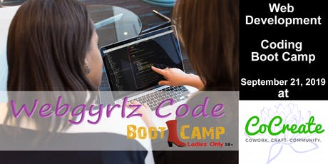 (Fall 2019) Web Development Coding Boot Camp - Ladies Only tickets