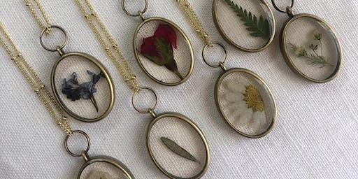 Botanical Necklace Workshop at gather workshop