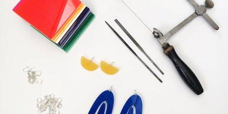 Hand Cut Acrylic Earrings Workshop tickets