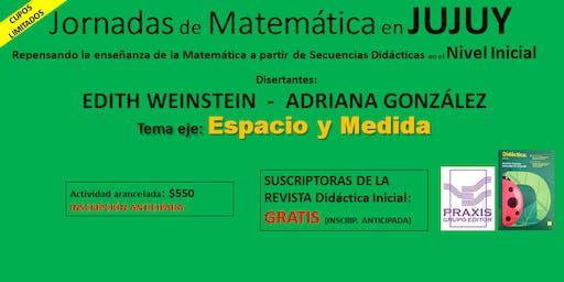 Jornadas de Matemática p/ Nivel Inicial - eje ESPACIO y MEDIDA en JUJUY