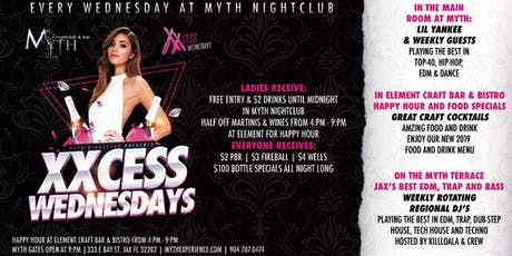 XXCess Wednesdays (Ladies Night) At Myth Nightclub tickets