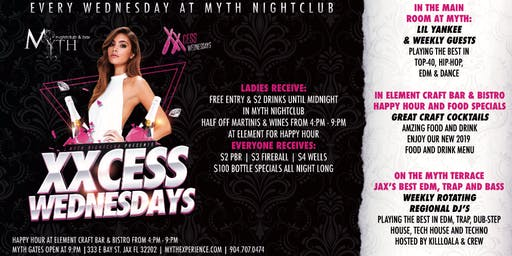 XXCess Wednesdays (Ladies Night) At Myth Nightclub
