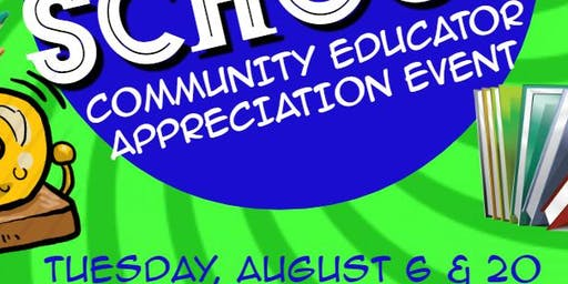 Community Educator Appreciation Event