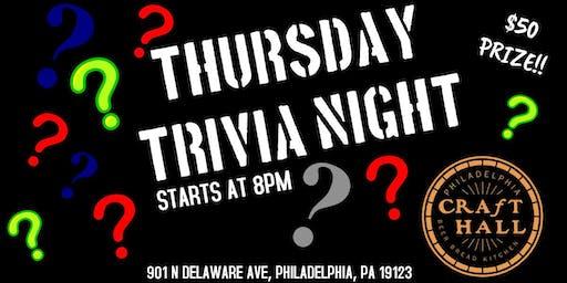 Thursday Trivia Night at Craft Hall